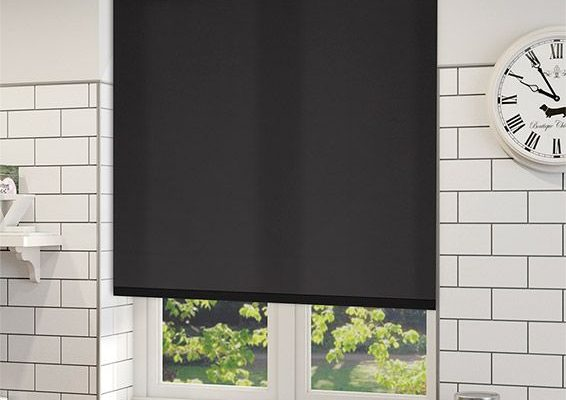 Black Roller Shades Cordless